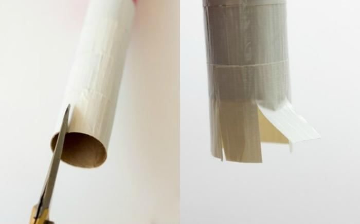 manualidades con tubos de papel higienico paso a paso, globo corazón con flechas de cartón DIY