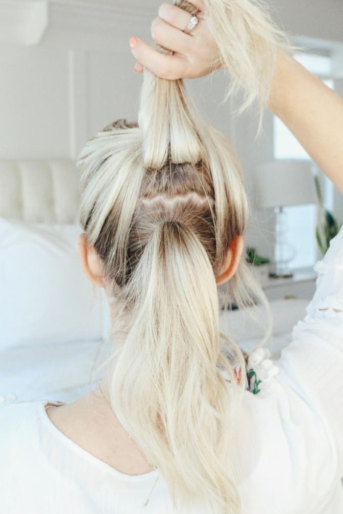 pasos detallados para hacer una coleta gruesa, ejemplos de peinados con cola alta modernos y originales