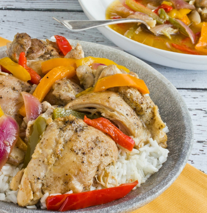 carne de cerdo con verduras a vapor, ideas de comidas rapidas y sencillas con arroz blanco blando