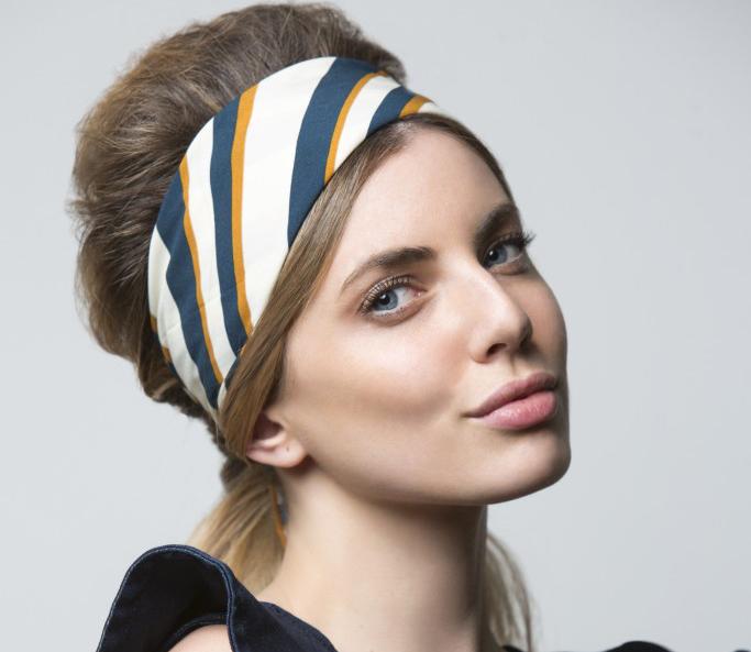 tendencias peinados mujer primavera verano 2018, coletas adornadas de turbantes, ideas de peinados faciles y bonitos