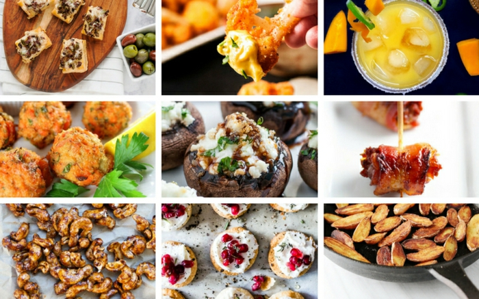 bonitas ideas de tapas faciles, variedad de entrantes para hacer en casa, tostadas con crema de queso y aceitunas