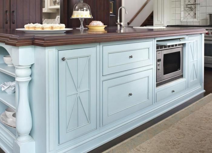 como decorar una cocina moderna con isla, cocinas modernas blancas con muebles en colores