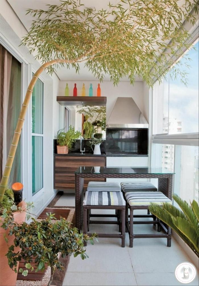terraza de encanto con cocina y comedor exteriores, decoracion de jardines exteriores y balcones 2018