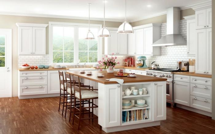 espacios mdoernos abiertos, cocinas modernas blancas con graneds islas, ideas cocinas abiertas al salón