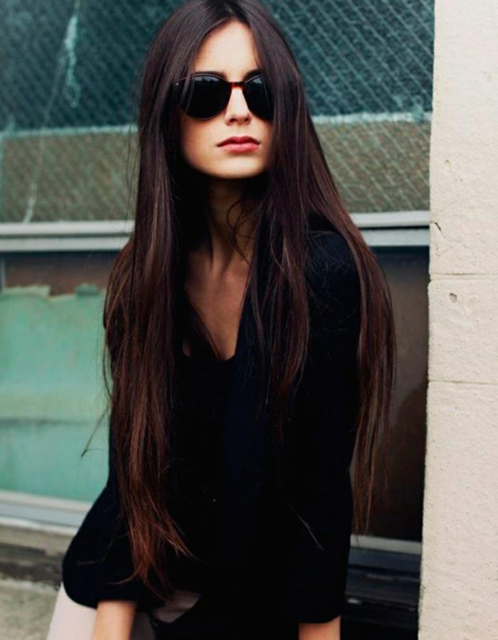 pelo muy largo corte recto, tendencias cabello primavera verano 2018, cabello ultra largo
