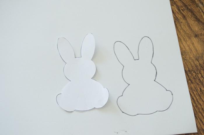 pasos para hacer muñecas goma eva en forma de animales, conejo de goma eva DIY paso a paso