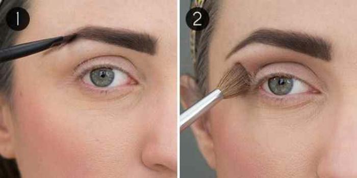 pasos básicos sobre como pintarse los ojos con tutoriales, aplicar sombras claras y teñir las cejas