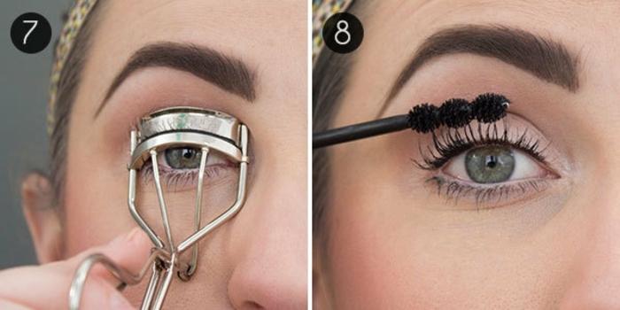 toques últimos en el maquillaje de los ojos, como maquillar ojos para que parezcan más grandes