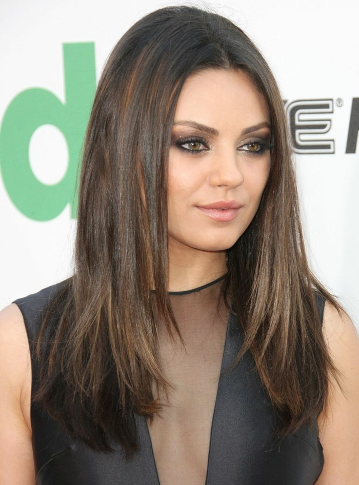 cortes de pelo 2018 mujer tendencias, pelo largo degradado con mechas mas claros, cortes de pelo 2018 mujer tendencias