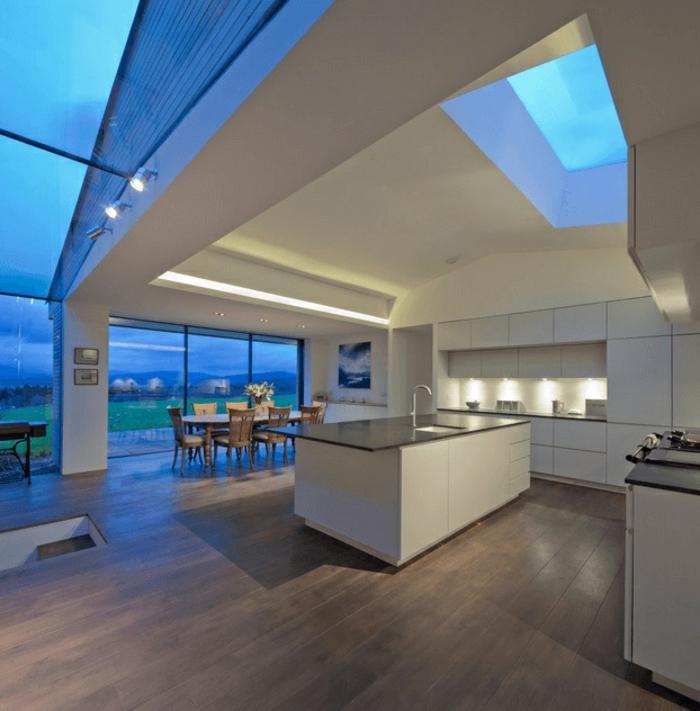 cocinas modernas fotos, espacio abierto decorado según las últimas tendencias en decoración de interiores