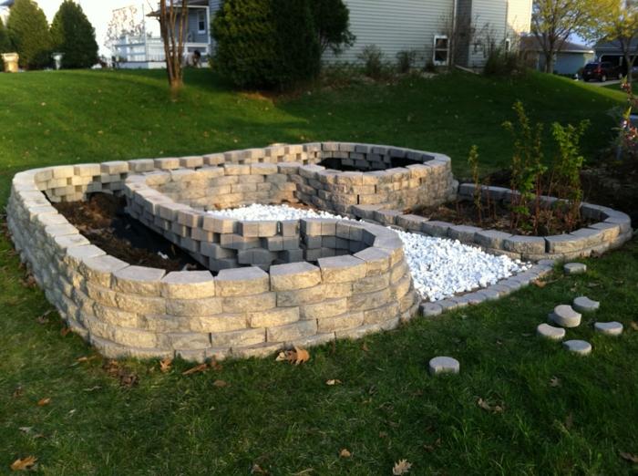 preciosas ideas de jardines rusticos, grande patio decorado de encanto, decoracion de jardines con piedras ideas