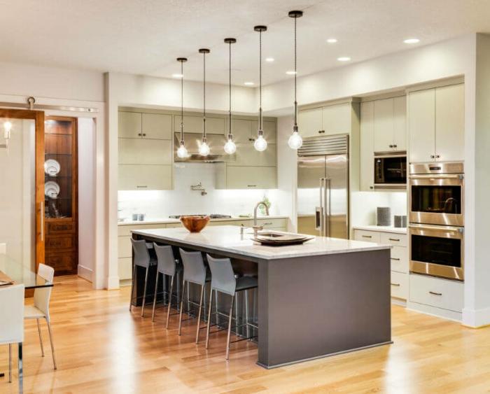 1001 ideas sobre decoraci n de cocinas con isla for Cocinas abiertas con isla