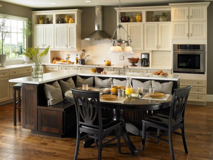 1001 ideas sobre decoraci n de cocinas con isla for Cocina comedor en l