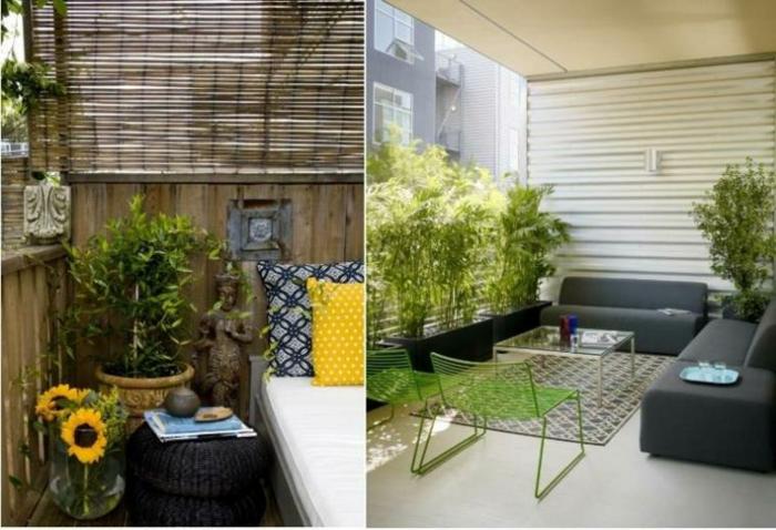 como decorar un espacio exterior pequeño, ideas de decoracion balcones pequeños tendencias 2018