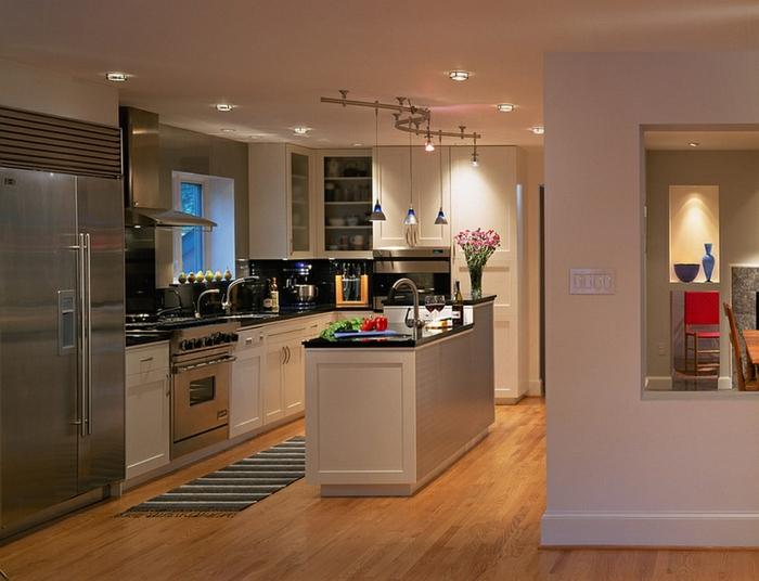 cocinas pequeñas abiertas al salón, pequelas cocina con barra, tenendencias diseño de interiores