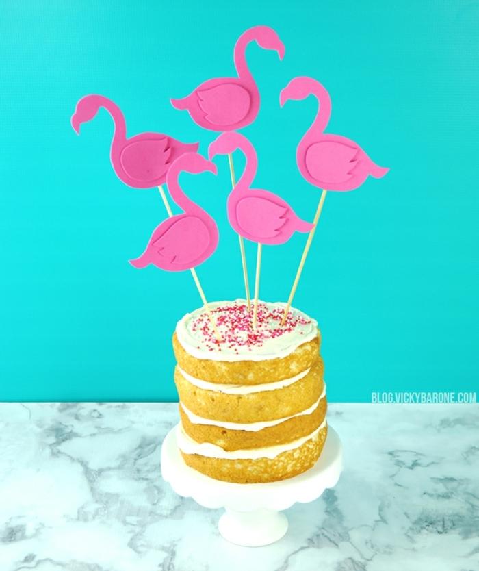 flamencos DIY hechos de goma eva para decorar una fiesta, ideas de manualidades con goma eva faciles