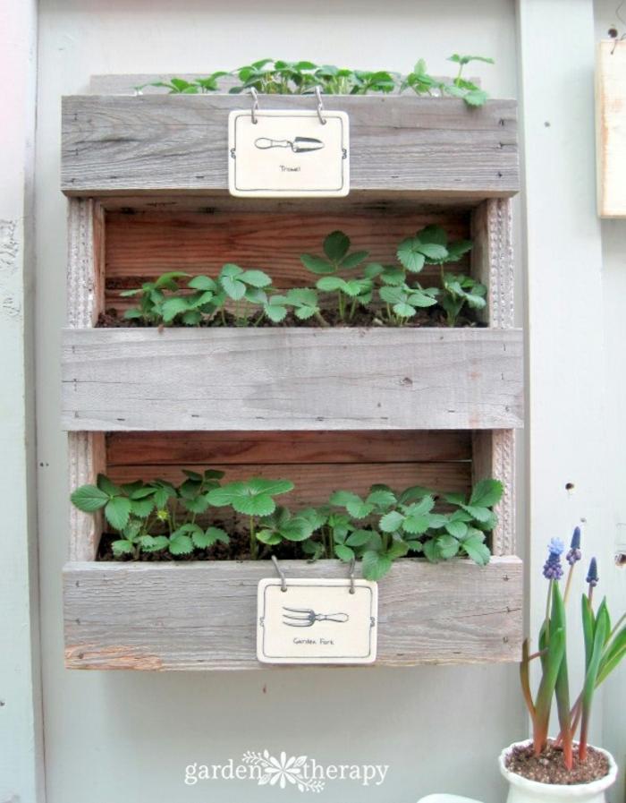 bonita idea con jardinera hecha de madera DIY, prácticas y bonitas para hacer a mano paso a paso