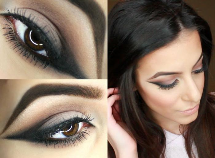 como conseguir una mirada ahumada con sombras en colores oscuros, como maquillarse bien paso a paso