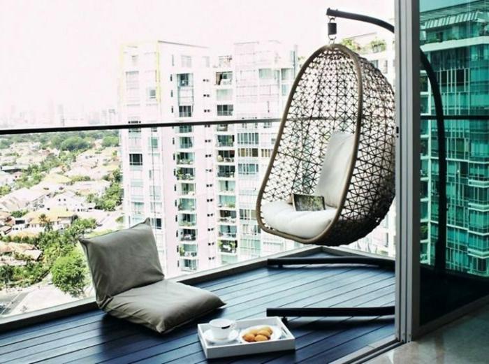 tendencias 2018 y ideas para decorar terrazas, muebles modernos en colores claros, decoración minimalista