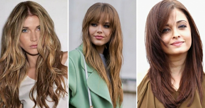 tres ejemplos de cortes de pelo para mujer en tendencia primavera verano 2018, corte de pelo en capas