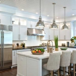 Cocinas americanas modernas - ¡Más de 90 fotos con ideas de diseños!