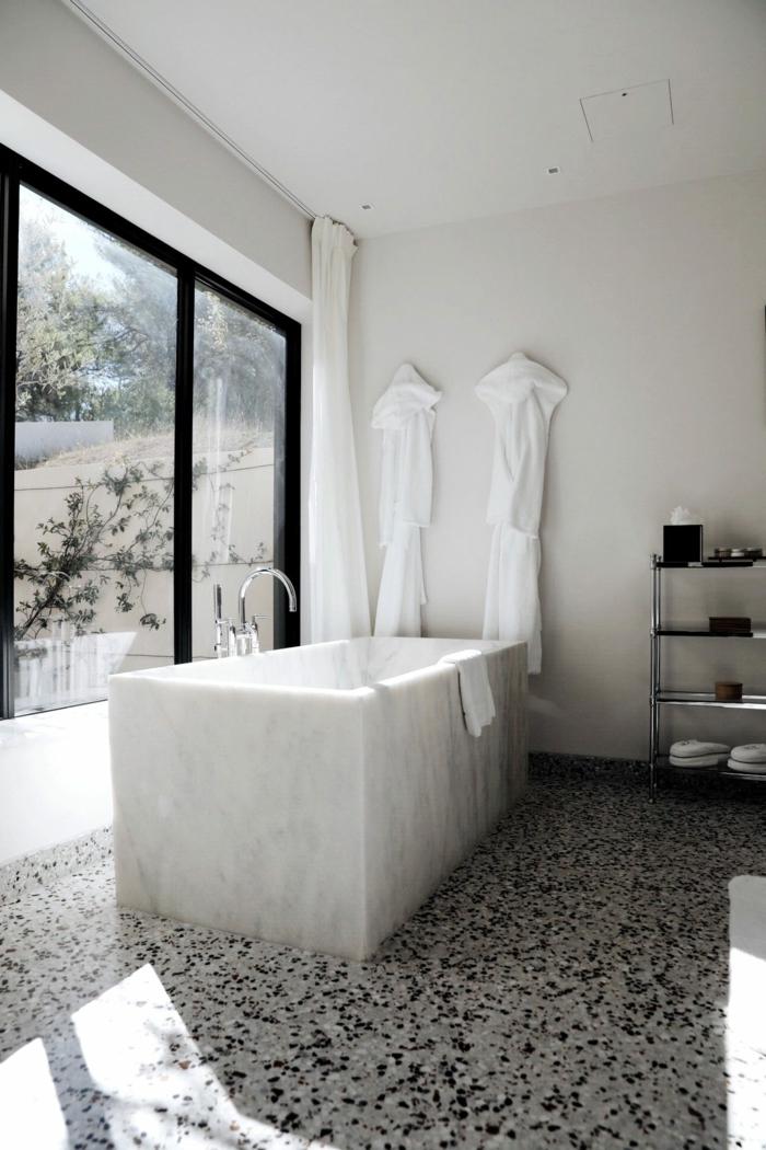 1001 ideas de decoraci n de ba os blancos modernos for Banos pequenos modernos con banera