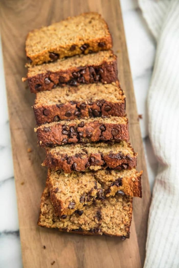 desayunos saludables de pan dulce, desayunos saludables, ricos y faciles de hacer, pan sin harina con platanos