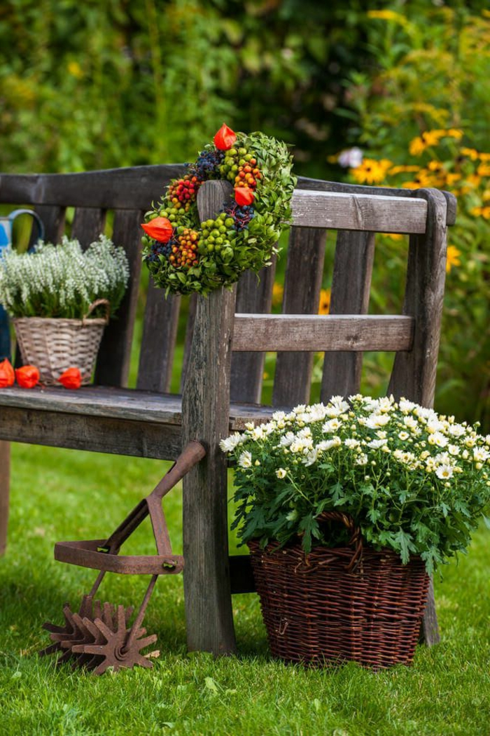 preciosa decoración para un jardín rústico, decoracion de jardines en estilo rústico paso a paso