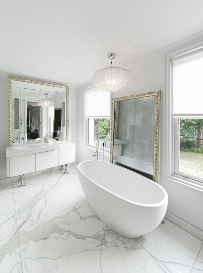 Espejos blancos top espejos vestidor blancos muy baratos for Cuadros plateados baratos