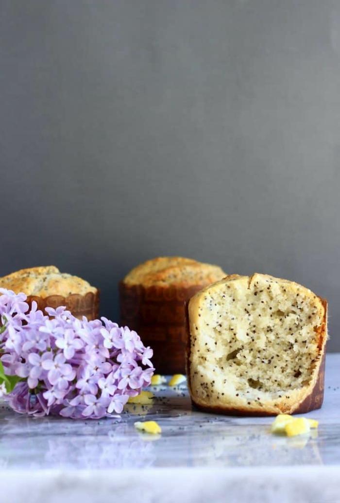 recetas de desayunos fitness sin gluten, magdalenas caseras con limon y semillas de chia