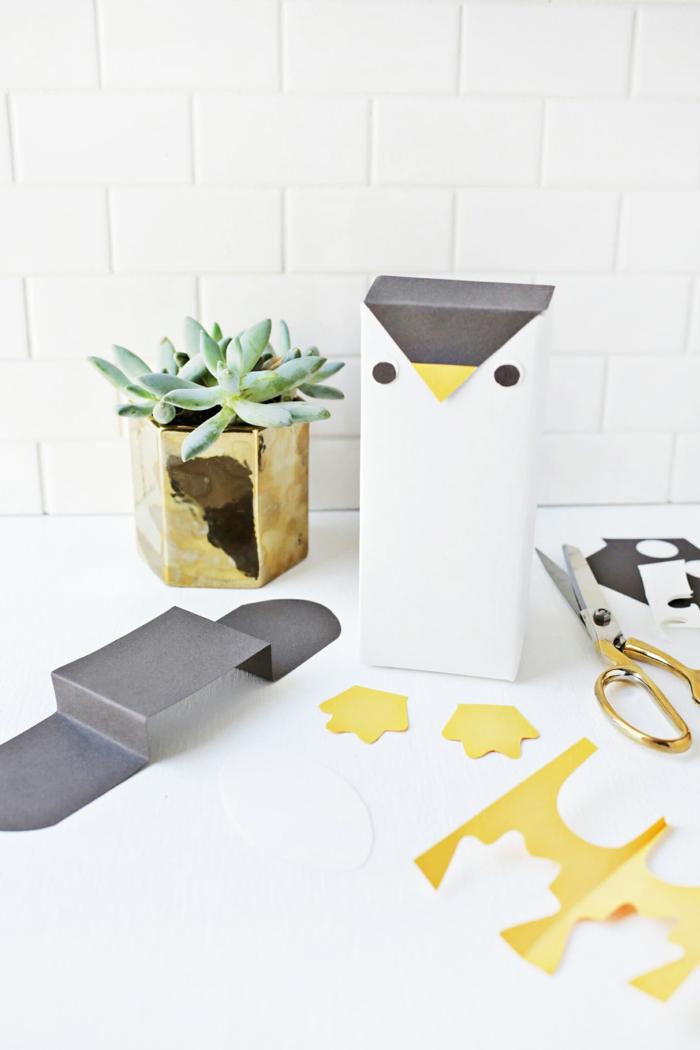 ingeniosas ideas de decoracion con reciclaje, embalaje DIY en forma de animales, bonitas ideas con papel reciclada