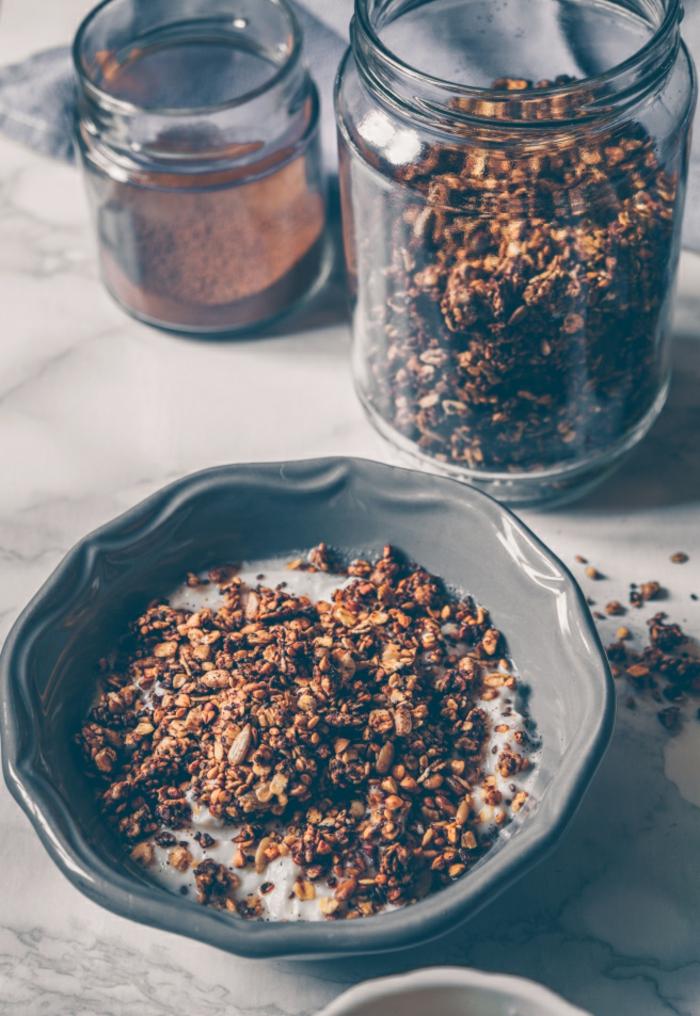 propuestas sobre desayunos para adelgazar, cereales con leche y cacao, como llevar una dieta saludable