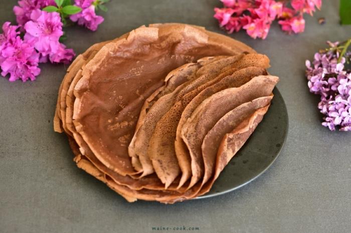 receta de crepes faciles con cacao y vainilla, desayunos para adelgazar paso a paso, ricas recetas para adelgazar