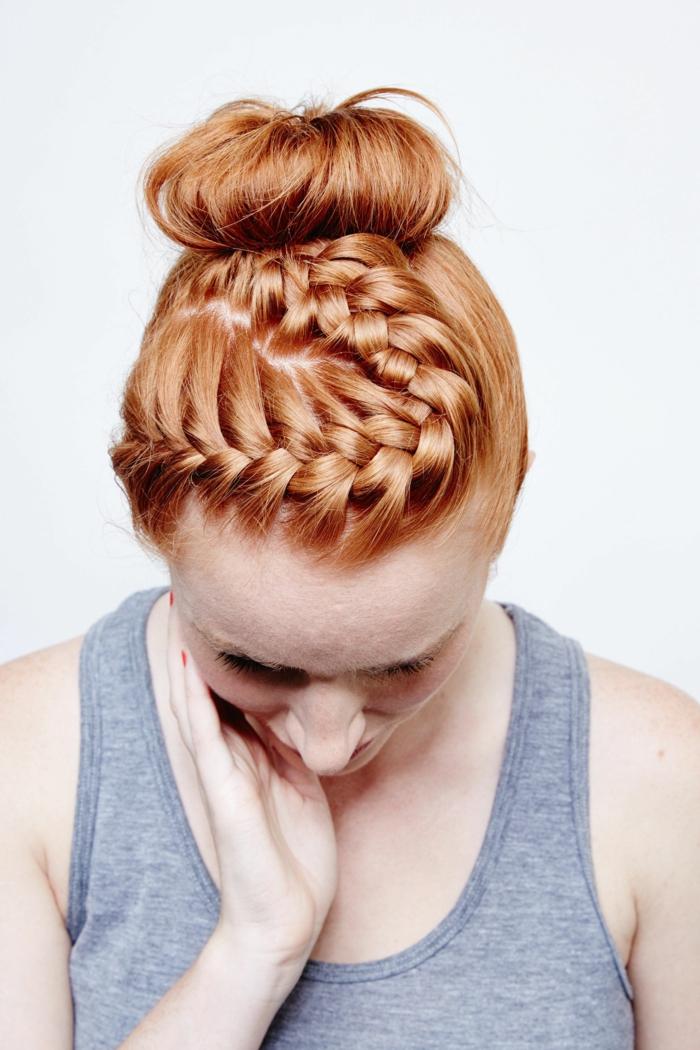 ideas originales de peinados con trenzas con tutoriales paso a paso, tendencias peinados primavera verano 2018