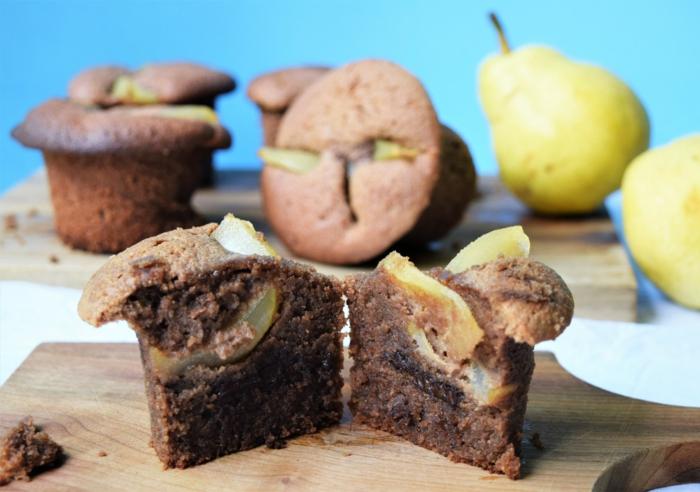 muffin con perras sin gluten, ideas de desayunos bajos en calorias, desayuno nutriente fácil de hacer