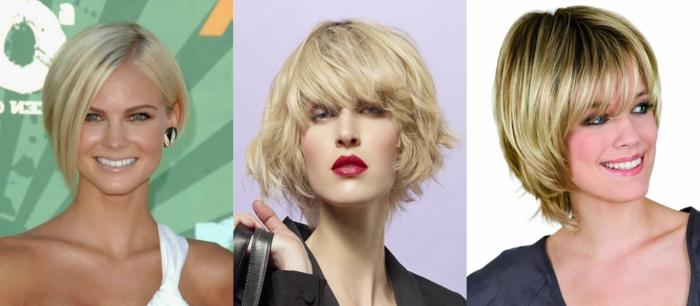 cortes de pelo mujer cara alargada, diferentes ideas de como peinar el pelo corto con las ultimas tendencias del año 2018