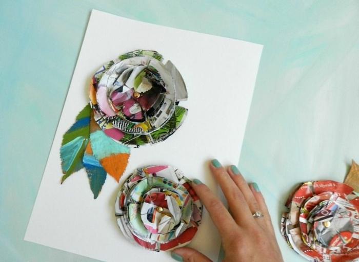 manualidades faciles y rapidas para decorar el hogar, cuadro decorativo con flores decoupage