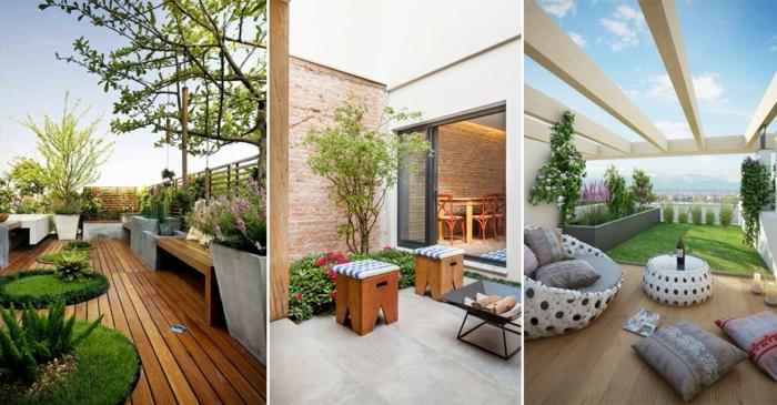 decoracion jardin, diferentes ideas de decoracion de nuestro jardin moderno con colores vivos