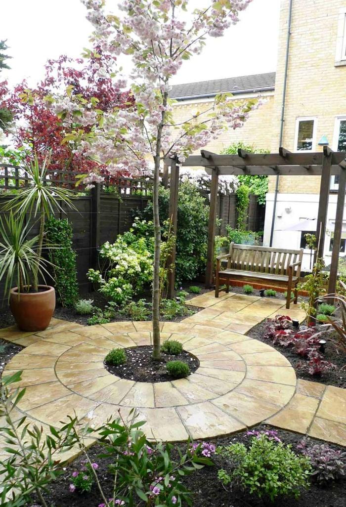 ideas para jardines fáciles y bonitas, cómo maximizar el espacio en un jardín de tamaño pequeño