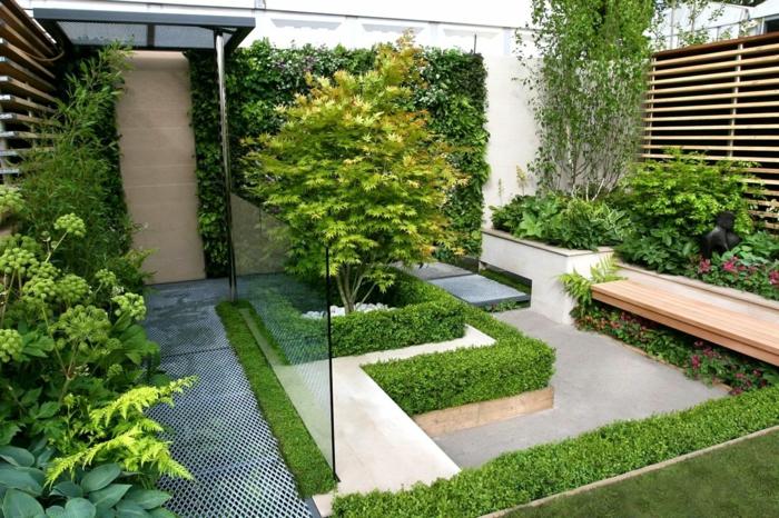 ideas para decorar jardines de tamaño pequeño, cómo organizar el espacio en un jardín pequeño