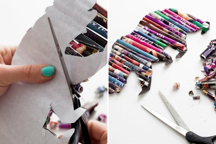 como hacer manualidades con cartulina y papel reciclada paso a paso, bonitas ideas DIY para decorar la casa
