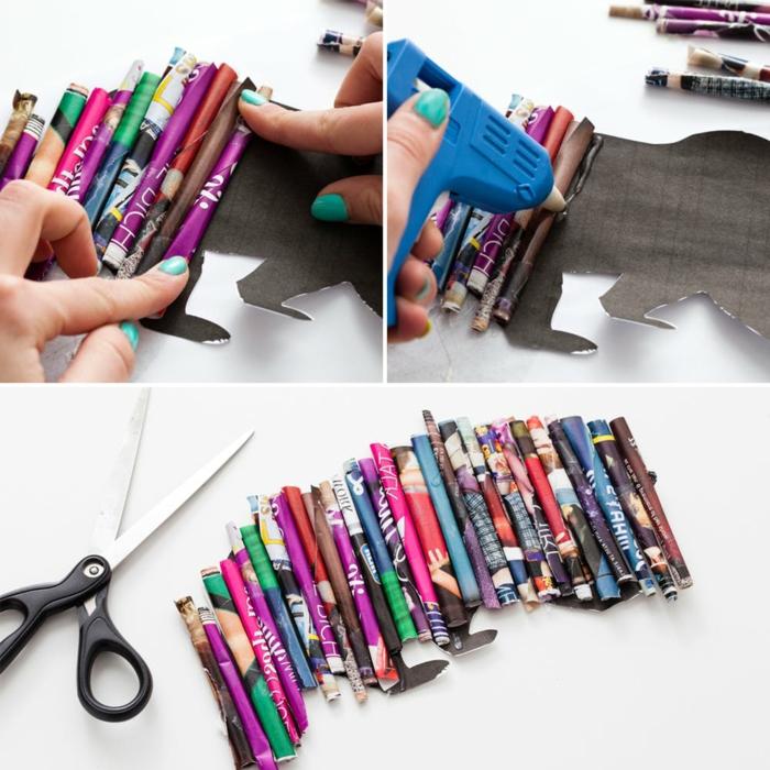 ideas de manualidades con cartulina y papel paso a paso, cuadro decorativo original y fácil de hacer
