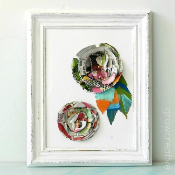 preciosa decoración con decoupage, manualidades con material reciclado con tutoriales