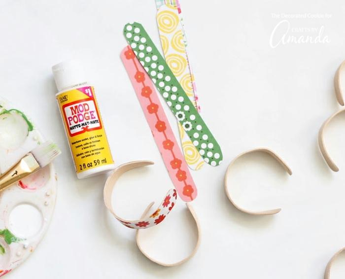 manualidades con palitos de helado reciclados, manualidades decoracion ideas originales paso a paso