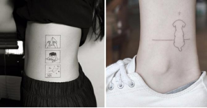 ideas de tatuajes pequeños mujer, diseños alucinantes en el costado y en la pantorrilla
