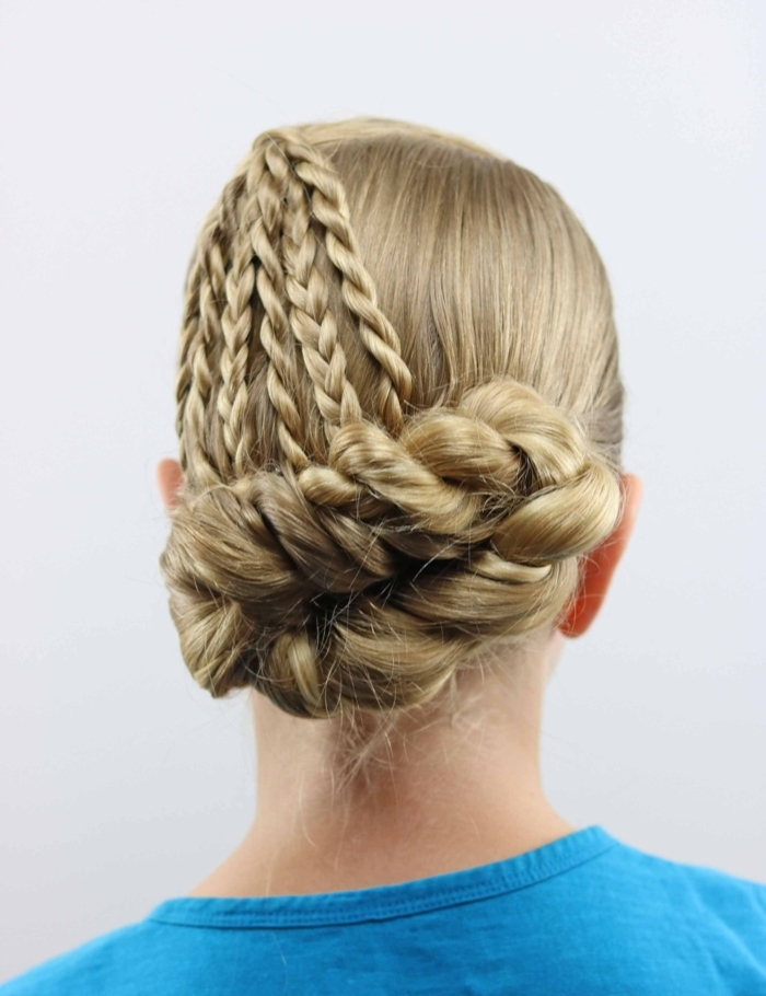ideas super originales de moños trenzados, peinados bonitos paso a paso, ideas para pelo largo