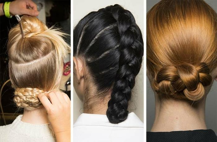 últimas tendencias en los recogidos con trenzas 2018, peinados bonitos para cabello largo