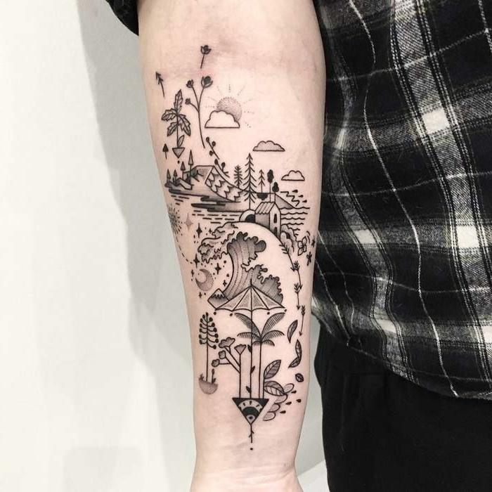ideas para tatuajes grandes con dibujos, tatuajes originales con significado para hombres y mujeres