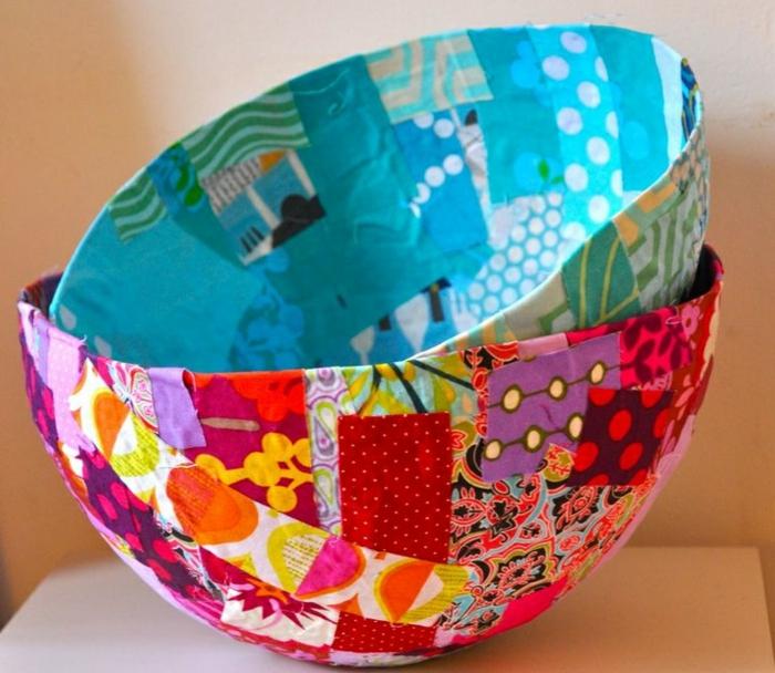 recipientes decorados con decoupage, manualidades decoracion faciles y coloridas paso a paso