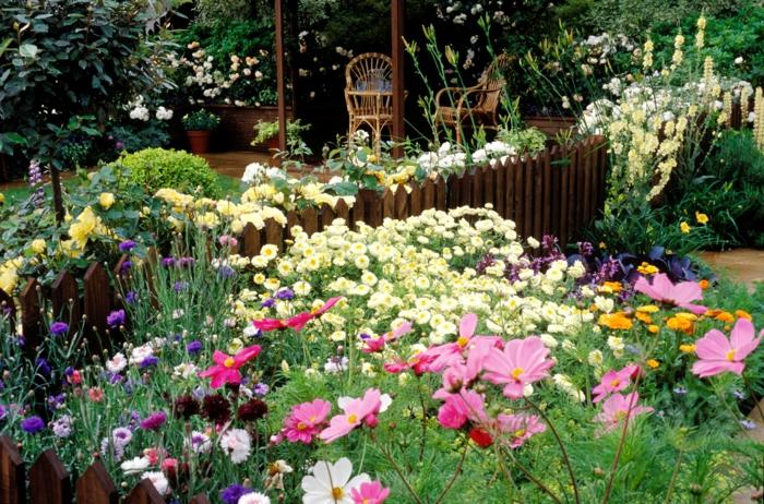 preciosas ideas con flores altas, ideas para decorar jardines y patios, tendencias decoración de exteriores